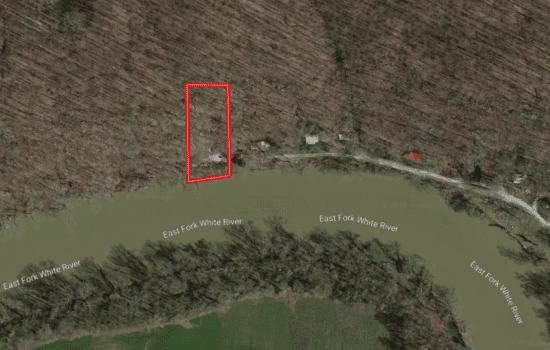 0.74 Private campsite on East Fork White River – Bedford, IN