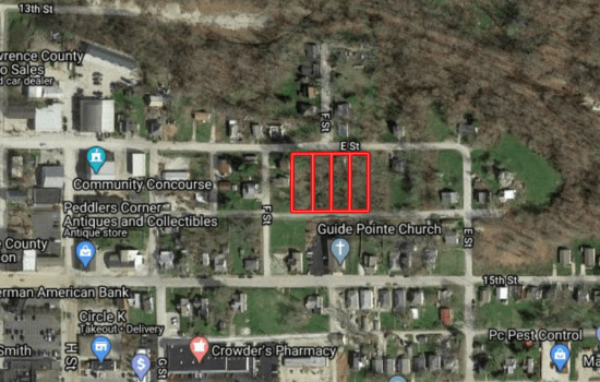 1 acre in downtown Bedford, IN zoned for duplexes
